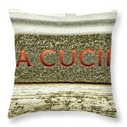 Italian Cooking Throw Pillow
