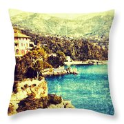 Italian Riviera Throw Pillow