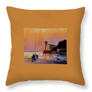 Italy - Trieste Gulf Throw Pillow