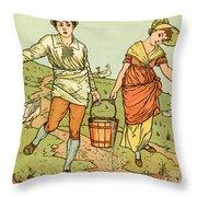 Jack And Jill Throw Pillow