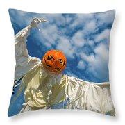 Jack-o-lantern Man Throw Pillow