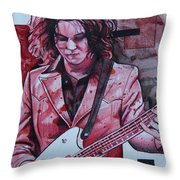 Jack White Throw Pillow