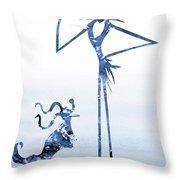 Jack With Zero-blue Throw Pillow