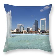 Jacksonville Florida  Throw Pillow
