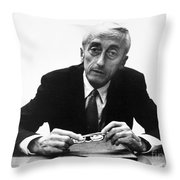 Jacques Cousteau (1910-1997) Throw Pillow