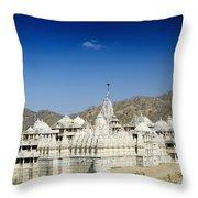 Jain Temple Of Ranakpur Throw Pillow