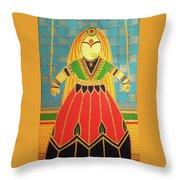 Jaipur's Kathputli Throw Pillow