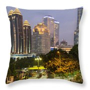 Jakarta Twilight Throw Pillow