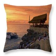 Jamaica Negril Ricks Cafe Throw Pillow