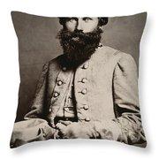 James E. B. Jeb Stuart Throw Pillow