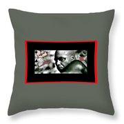 James Earl Jones Screen Capture The Great White Hope 1970 Throw Pillow