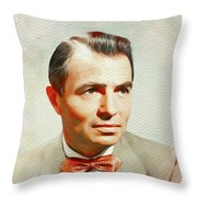 James Mason, Vintage Movie Star Throw Pillow