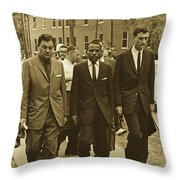 James Meridith And Ole Miss Integration 1962 Throw Pillow