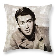 James Stewart Hollywood Actor Throw Pillow