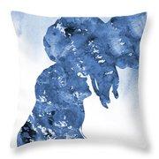 Jane And Tarzan-blue Throw Pillow