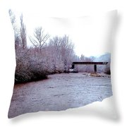 January Winter Day In England  Throw Pillow