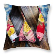 Japanese Sandals Throw Pillow