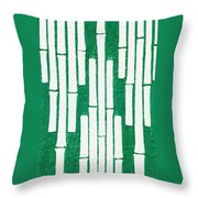 Japanese Textile From Shima-shima Throw Pillow