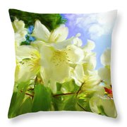 Jasmine Fly-by Throw Pillow
