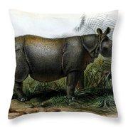 Javan Rhinoceros, Endangered Species Throw Pillow