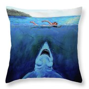 Jaws  Revisited Throw Pillow