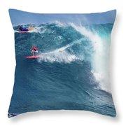 Jaws Wave Throw Pillow