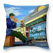 Jazz At The Orleans Throw Pillow