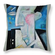 Jazz Face Throw Pillow