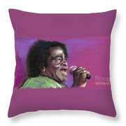 Jazz. James Brown. Throw Pillow