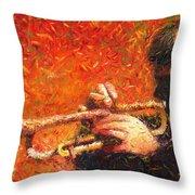 Jazz Trumpeter Throw Pillow