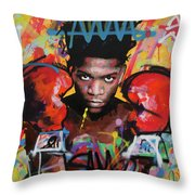 Jean Michel Basquiat Throw Pillow