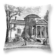 Jefferson: Monticello Throw Pillow