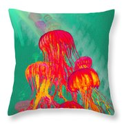 Jellys2 Throw Pillow