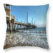 Jennettes Pier Nags Head North Carolina Throw Pillow