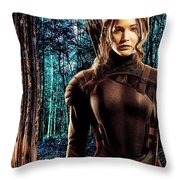 Jennifer Lawrence Collection Throw Pillow