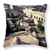 Jerusalem From The Tower Of David Museum Throw Pillow