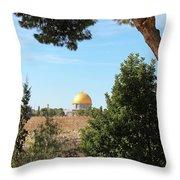 Jerusalem Trees Throw Pillow