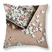 Jigsaw Puzzle Throw Pillow
