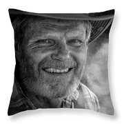 Jim In His Car Throw Pillow