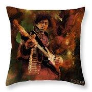 Jimi Hendrix 01 Throw Pillow