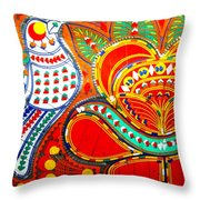 Jinga Bird Throw Pillow