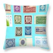 Jnf Stamps  Throw Pillow