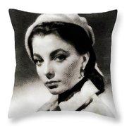 Joan Collins, Actress Throw Pillow