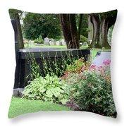 Joe Frazier Gravesite Throw Pillow