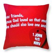1 John Bible Verse Throw Pillow