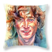 John Lennon Portrait Throw Pillow