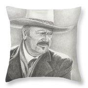 John Wayne As The Shootist Throw Pillow