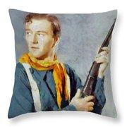 John Wayne, Vintage Hollywood Legend Throw Pillow