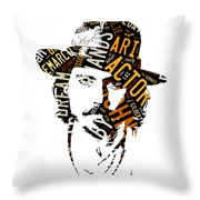 Johnny Depp Movie Titles Throw Pillow