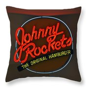 Johnny Rockets Throw Pillow